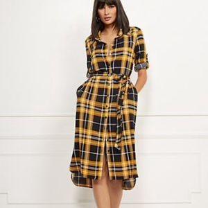 New York & Company | Plaid Midi Shirtdress